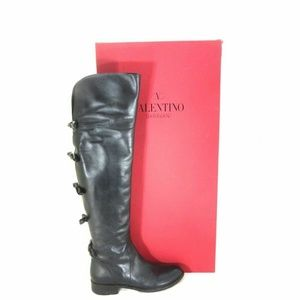 41 / 11 Valentino Bow-Back Over-the-Knee Boots